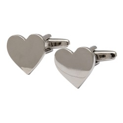 Contemporary Hearts Cufflinks