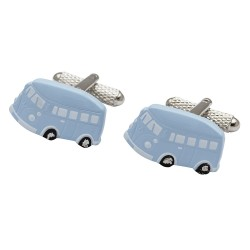 VW Campervan Cufflinks - Ice Blue Edition