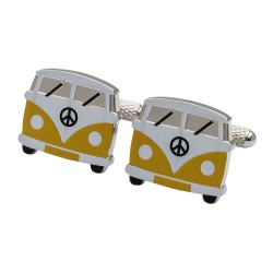 Yellow Campervan Cufflinks