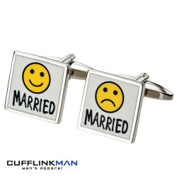 Married - Sad & Happy Cufflinks