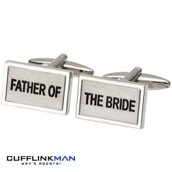 Father of the Bride Cufflinks | Engraved Wedding Cufflinks | Usher Gifts