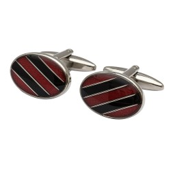 The Diagonal Red Cufflinks