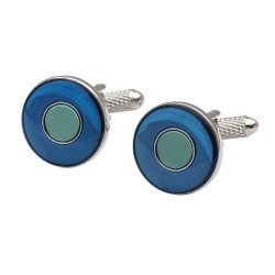 East Circles - Blue and Green Cufflinks