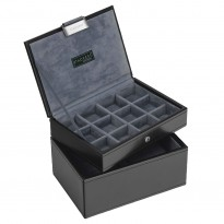 Stackers - Black and Grey Cufflinks Cases - Set of Two