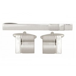 Cheltenham Cufflinks and Tie Pin Set - Tie Clip - Tie Bar - Tie Slide
