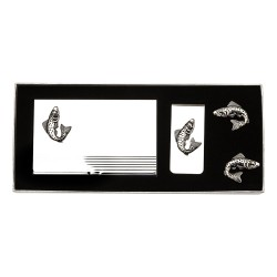 Fish Cufflinks Gift Set