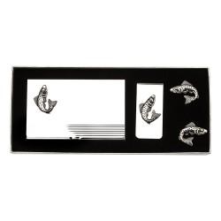Fish Cufflinks Gift Set