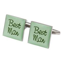 Square Green- Best Man Cufflinks