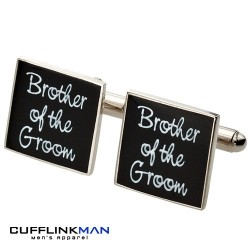 Square Black - Brother of the Groom Cufflinks
