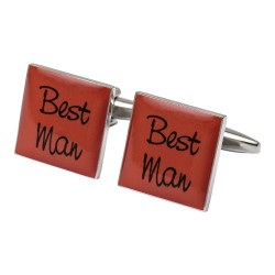Square Orange- Best Man Cufflinks