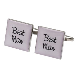 Best Man Cufflinks Pale Pink Squares
