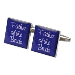 Square Purple - Father of the Bride Cufflinks