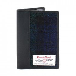 Passport Holder - Harris Tweed - Black Watch Tartan by The British Bag Company