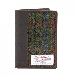 Passport Holder - Harris Tweed - Green Tartan