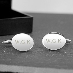 Initial Oval Cufflinks Personalised