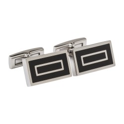 Unique Jewellery - Black Enamel - Designer Cufflinks