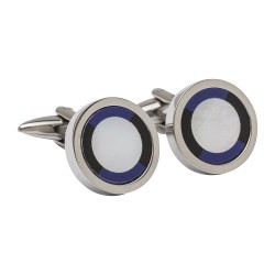 Mother of Pearl, Onyx & Lapis Designer Cufflinks