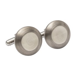 Titanium Designer Cufflinks with Silver 925