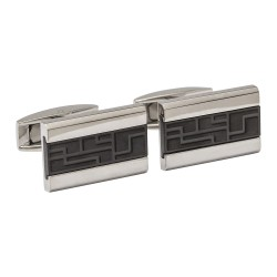 Titanium and Black Cufflinks