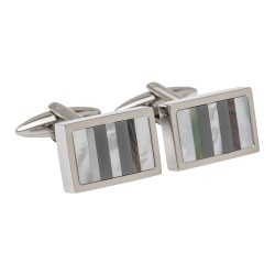 Mother of Pearl & Onyx Designer Cufflinks