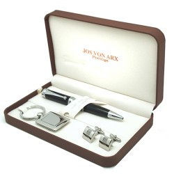 Uplands Cufflinks Pen & Key Ring Boxed Gift Set