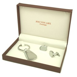 Wells Cufflinks & Key Ring Boxed Gift Set