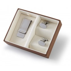 Cotswold Cufflinks & Money Clip Boxed Gift Set