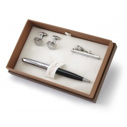 Chiswick Cufflinks Pen & Tie Bar Boxed Gift Set