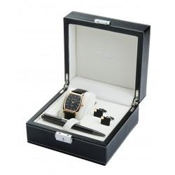 Kensington Watch Cufflinks & Pen Boxed Gift Set