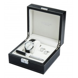 Watch Cufflinks & Pen Boxed Gift Set