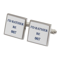 I'd Rather Be 007 James Bond Cufflinks