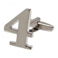 Number 4 Cufflink - Numbers Cufflinks