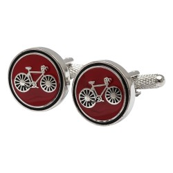 Cycling Cufflinks - Red Bicycle Cufflinks Edition