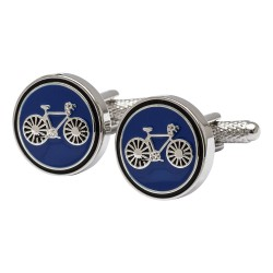 Cycling Cufflinks - Blue Bicycle Cufflinks Edition