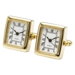 Timeless Classic Gold Edition (Working Clocks) Watch Cufflinks