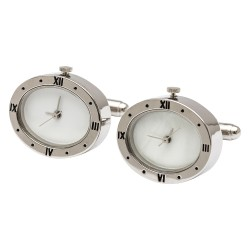 Time Zeco Clock Cufflinks (Working Clock)