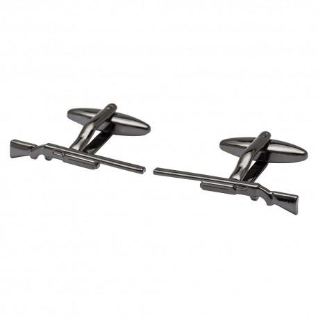 Rifle Cufflinks - Gunmetal Edition