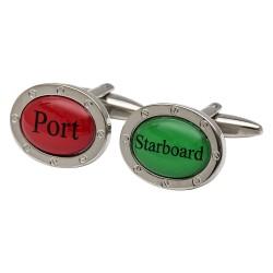 Port and Starboard Cufflinks Nautical Sailing Cufflinks