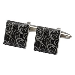 Black Passion Rose Cufflinks