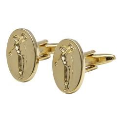 Golden Golfer Cufflinks