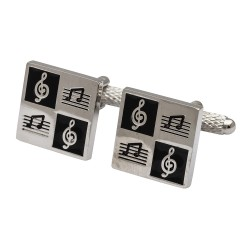 Chequer Musical Notes Cufflinks