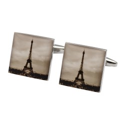 A Parisian Scene - Paris Cufflinks - Eiffel Tower Cufflinks