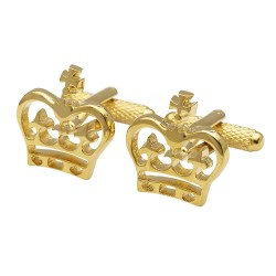 Golden Crowns Cufflinks