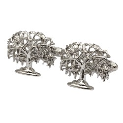 Oak Tree Cufflinks - Tree Of Life Cufflinks