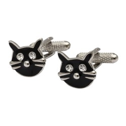 Lucky Black Cat Cufflinks - Animal Cufflinks