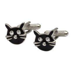 Lucky Black Cat Cufflinks - Animal Cufflinks