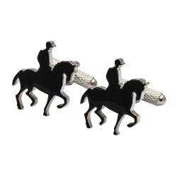 Dressage Rider and Horse Cufflinks