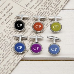Set Of Six Multi Way Initial Cufflinks - Personalised Cufflinks