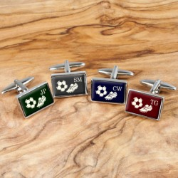 Football Cufflinks - Personalise with Your Initials