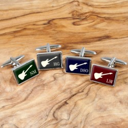 Guitar Cufflinks - Personalise with Your Initials